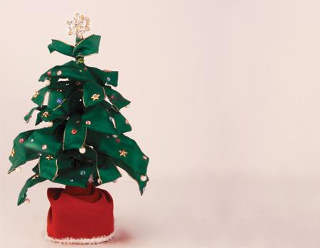 Diy wired ribbon christmas tree 171 m amp j blog