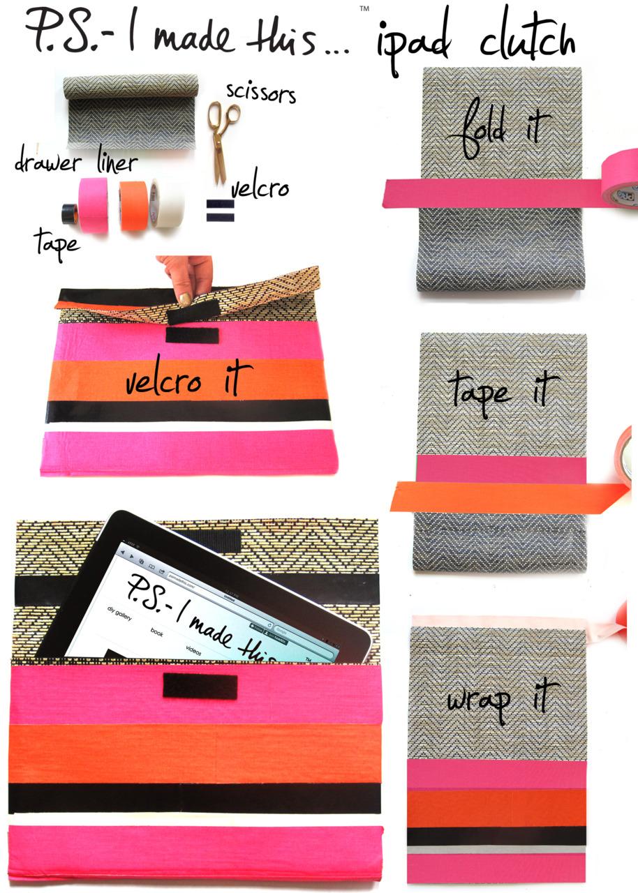 DIY Neon Envelope iPad Case by SwellMayde