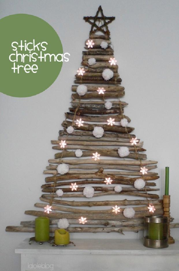 2DIY Sticks Christmas Tree