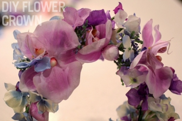 lana del rey flower crown wreath diy