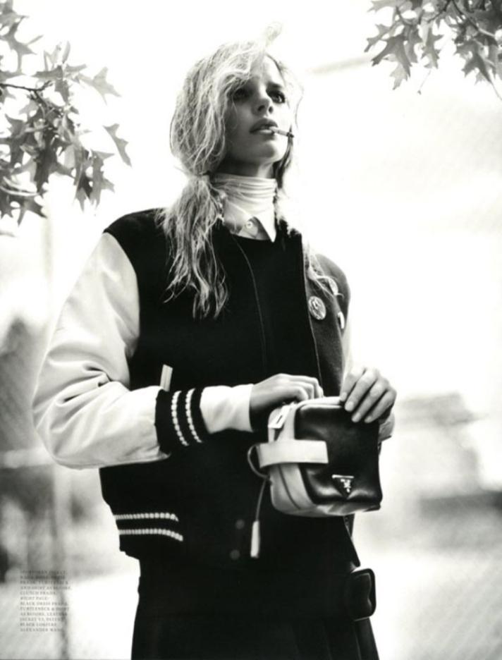 varsity jacket- girly look