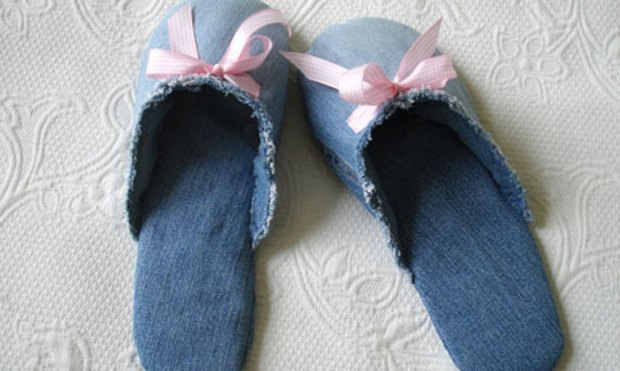 Denim Slippers from Jeans