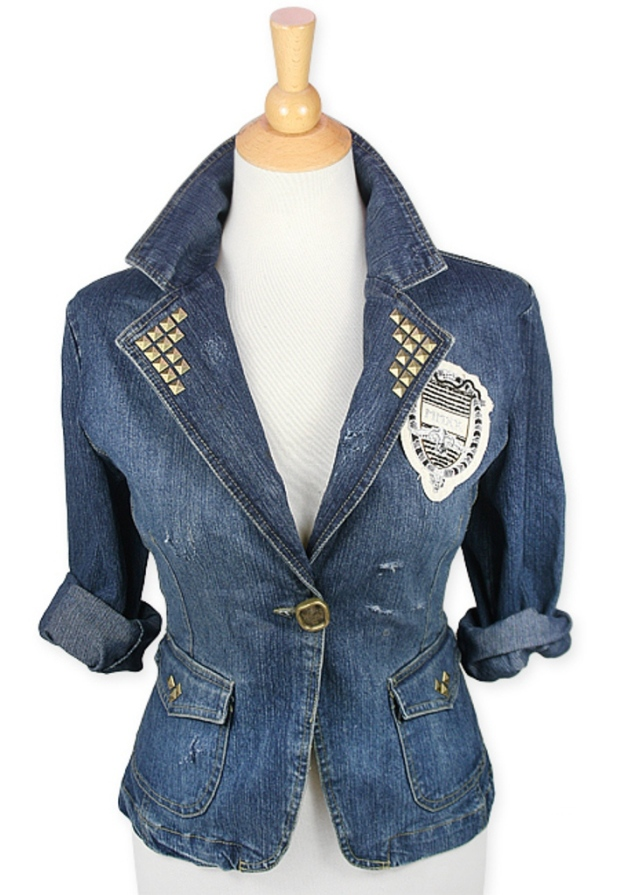 Refashion your denim blazer