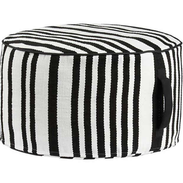 stripe-woven-black-and-white-pouf