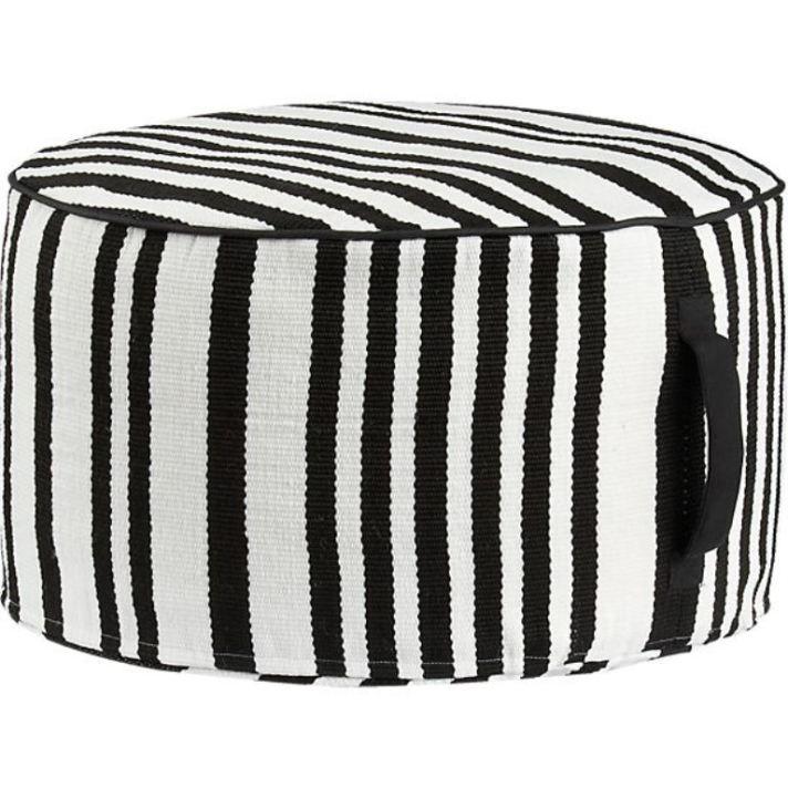 stripe-woven-black-and-white-pouf