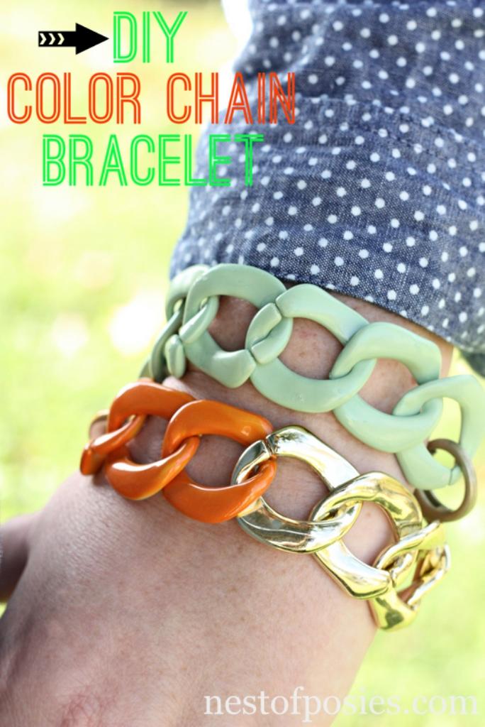 DIY-Color-Chain-Bracelet_Nest of Posies
