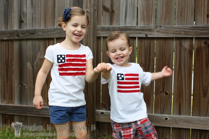 kids flag tee shirt