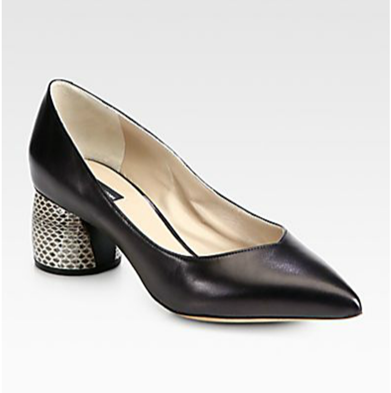 Marc Jacobs Leather and Snakeskin Pumps