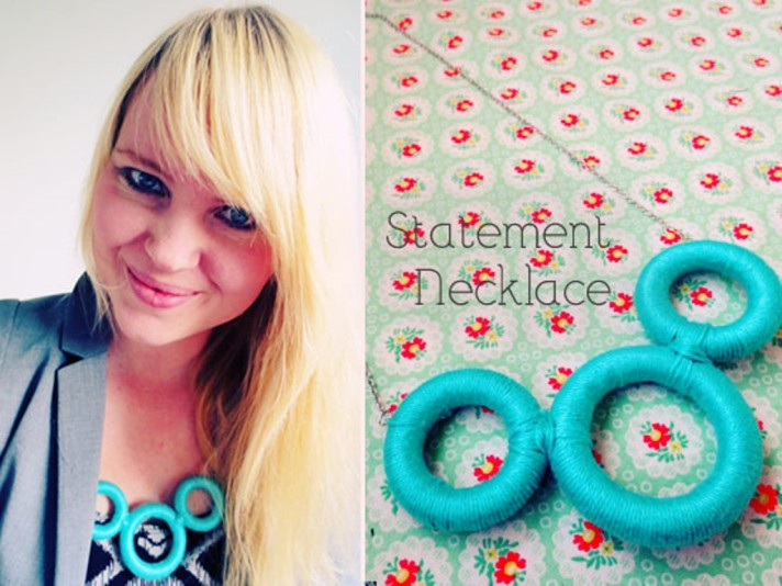 DIY Curtain Ring Necklace