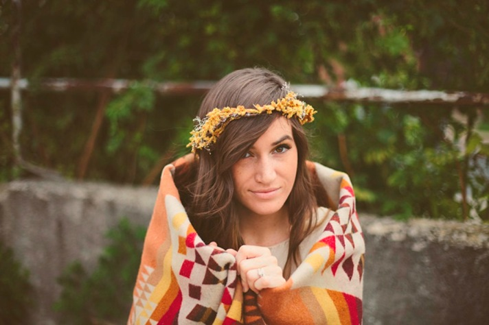 fall floral crown diy