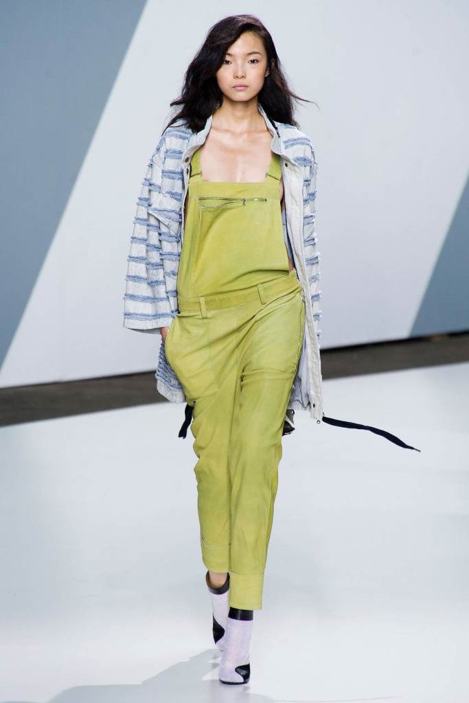 Overalls in lime_Philip Lim