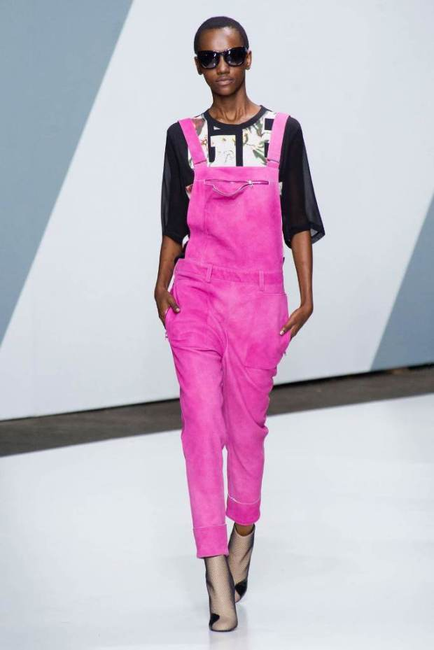 Overalls in pink_Phillip lim