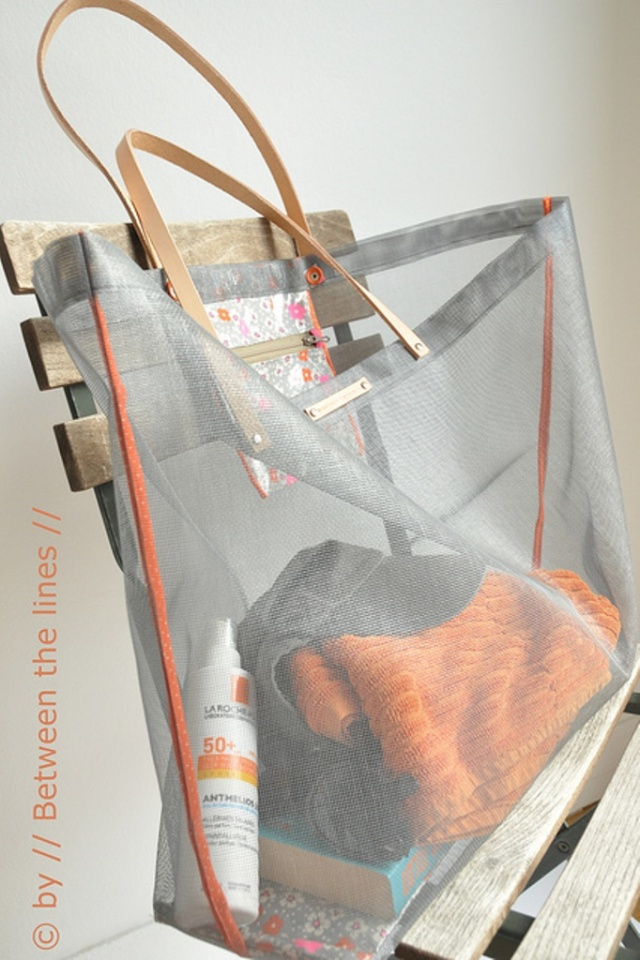Between the Lines Beach Bag DIY