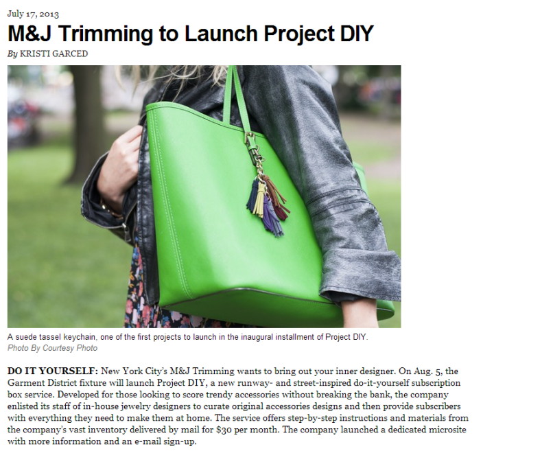 WWD Press Release Project DIY