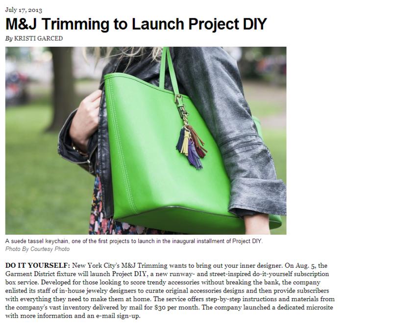 WWD Press Release Project DIY