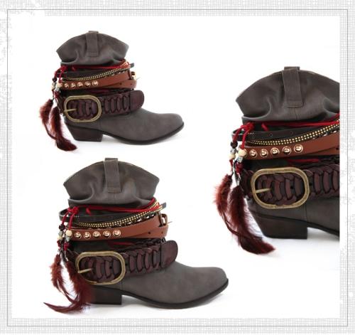 DIY Buckle Boots