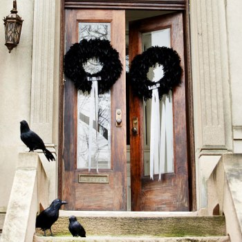 Better Homes and Gardens Feathered Wreath Craft