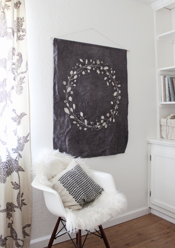 Batik Dye Wreath Tapestry from Kelli Murray