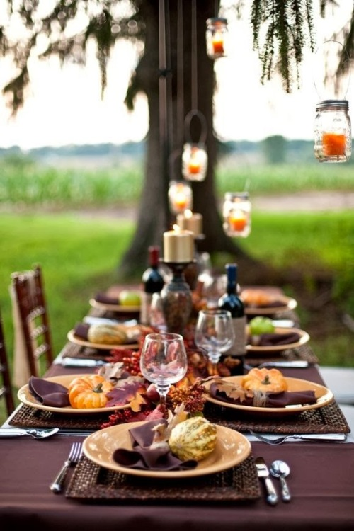 Burgundy Tablescape South Shore Decorating