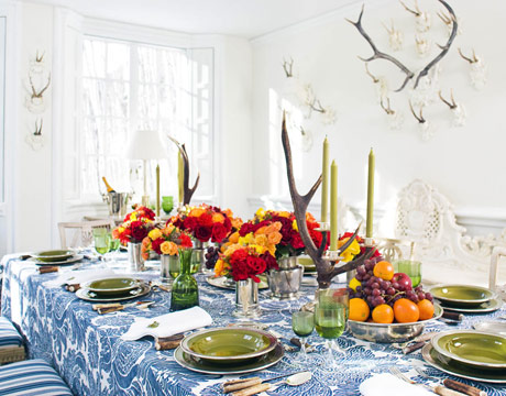 Colorful House Beautiful Tablescape