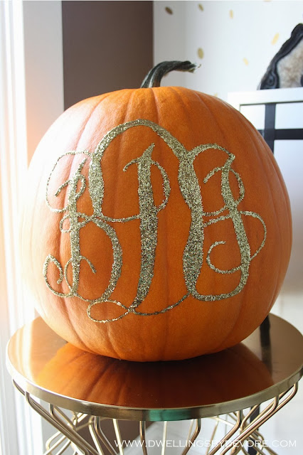 Dwellings by Devore Monogrammed Pumpkin