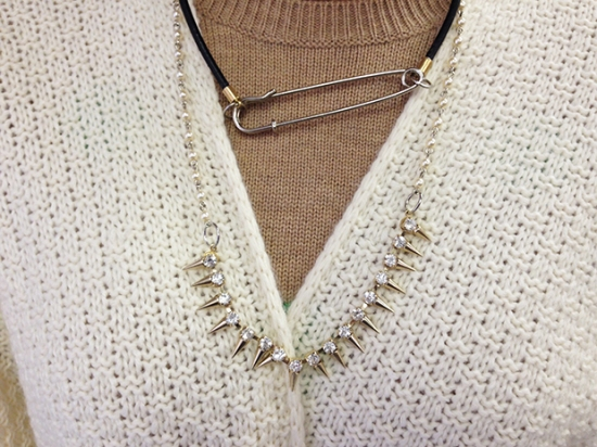 Project DIY Punk Revival Rhinestone Pearl Necklace | M&J Trimming