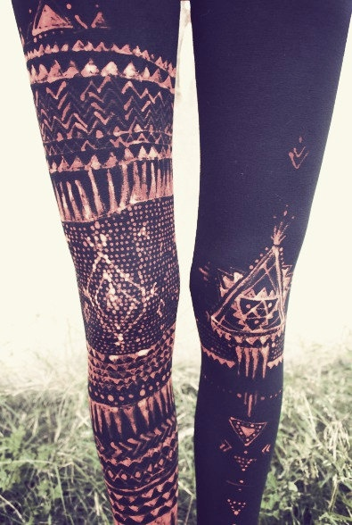 Bleach Pattern Tights DIY