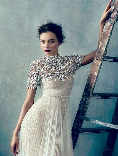 Miranda Kerr in Jeweled Capelet | M&J Trimming
