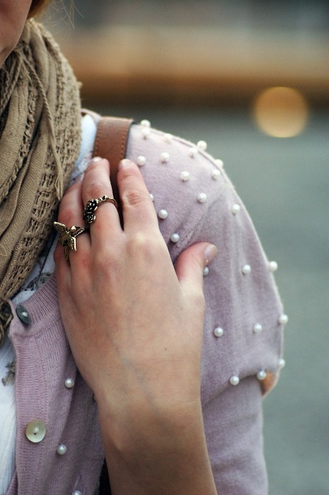 Pearl Dotted Cardigan