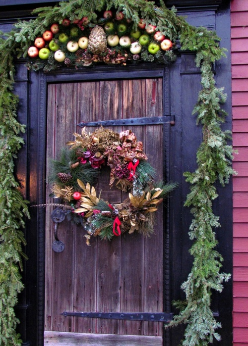 Red and Gold Holiday Door Inspiration