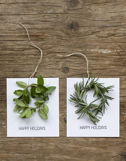Mini Wreath Holiday Cards from Frolic Blog | M&J Trimming