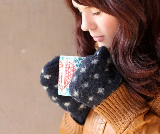 Sew Your Own Mittens from a Sweater A Beautiful Mess