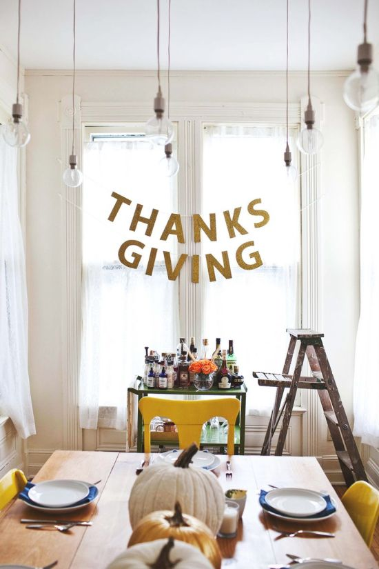 Thanksgiving Garland from A Beautiful Mess