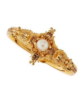 Alexander McQueen Pearl Skull Bracelet