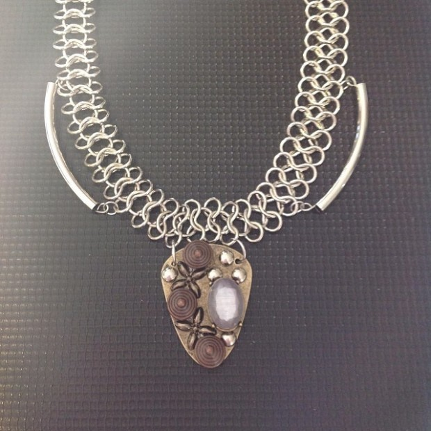 Joan of Arc Shield Necklace from Annamartinah