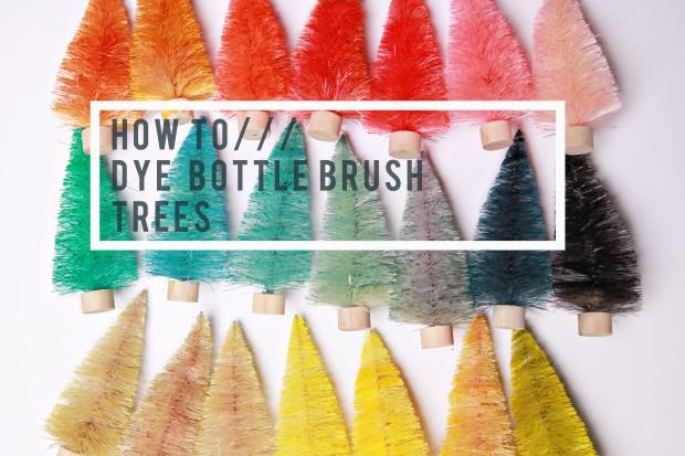 Bottle Brush Dye DIY