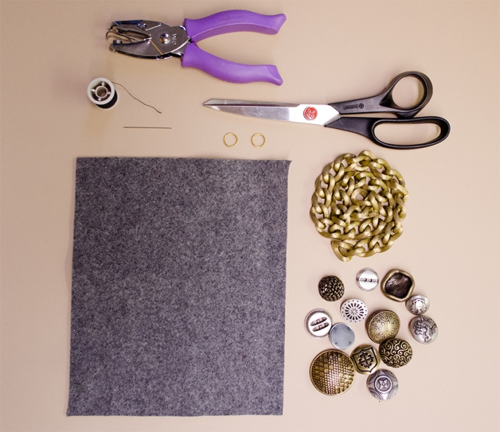 Button Statement Necklace Materials | M&J Trimming