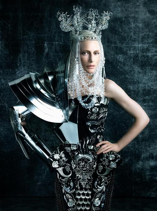 Cate Blanchett in Armor Vogue