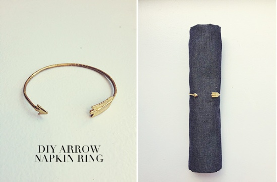 Arrow Napkin Rings from Ruffled