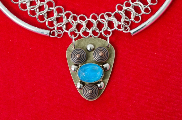 Joan of Arc Customized Shield Necklace