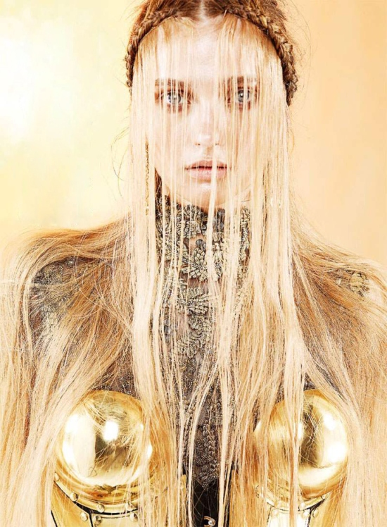 Long Blonde Hair and Armor Editorial