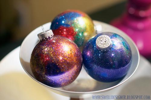 Glitter Galaxy Ornaments from Swell Designer