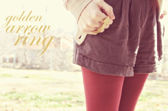 Golden Arrow Ring from Sincerely Kinsey