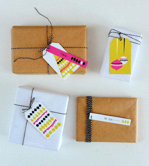 Neon Gift Tags from Lil Sugar