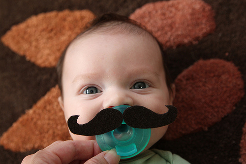 Baby with Mustache | The Paper Seed