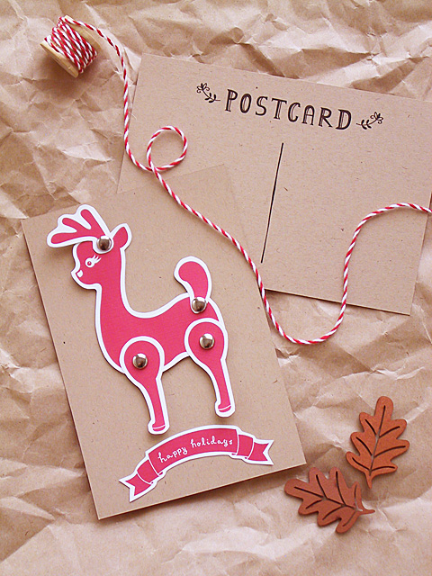 Paper Reindeer from Eat Drink Chic | M&J Trimming