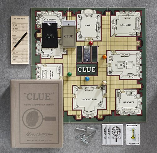 Clue Game from Restoration Hardware
