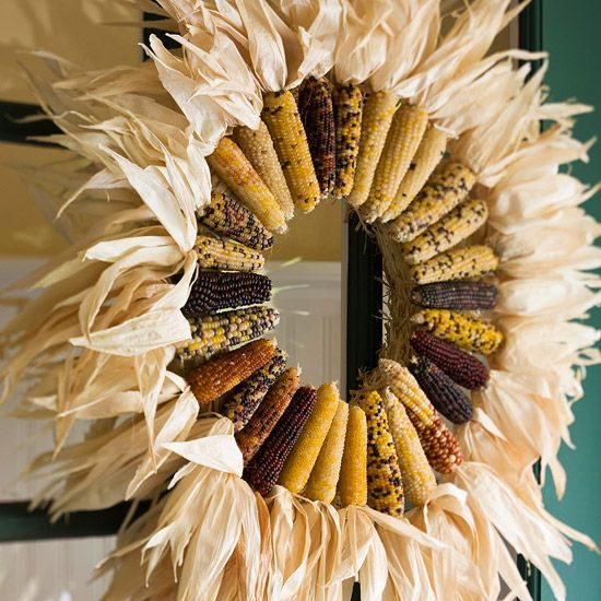 Corn Husk Wreath from Home Edit