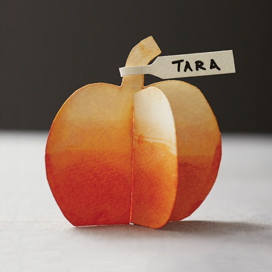 Pumpkin Place Cards from Today's Parent