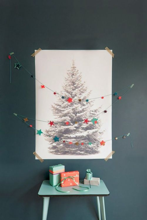 Unconventional Holiday Tree Poster and Garland